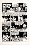 Original Comic Art:Complete Story, Willy Murphy San Francisco Comic Book #3 Complete 1-PageStory Original Art (Print Mint, 1971)....
