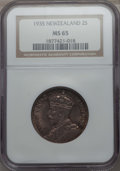 New Zealand: George V Florin 1935 MS65 NGC