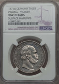 German States:Prussia, German States: Prussia. Wilhelm I Taler 1871-A UNC Details (Surface Hairlines) NGC,...