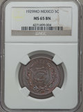 Mexico, Mexico: Estados Unidos 5 Centavos 1929-Mo MS65 Brown NGC,...