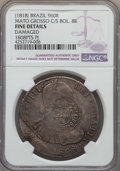 Brazil: Mato Grosso Counterstamped 960 Reis ND (1818) Fine Details (Damaged) NGC