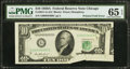 Error Notes:Printed Tears, Fr. 2011-G $10 1950A Federal Reserve Note. PMG Gem Uncirculated 65EPQ.. ...