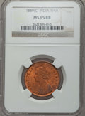 India:British India, India: British India. Victoria 1/4 Anna 1889-(C) MS65 Red and Brown NGC,...