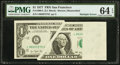 Error Notes:Major Errors, Fr. 1909-L $1 1977 Federal Reserve Note. PMG Choice Uncirculated 64EPQ.. ...