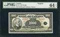 Canadian Currency: , BC-19 $1000 1935.. ...