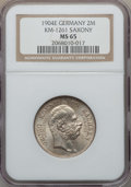 German States:Saxony, German States: Saxony. Georg 2 Mark 1904-E MS65 NGC,...