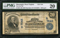 National Bank Notes:West Virginia, Monongah, WV - $20 1902 Plain Back Fr. 650 The First NB Ch. #(S)7545. ...