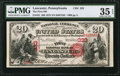 National Bank Notes:Pennsylvania, Lancaster, PA - $20 1875 Fr. 431 The First NB Ch. # 333. ...
