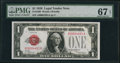 Fr. 1500 $1 1928 Legal Tender Note. PMG Superb Gem Unc 67 EPQ