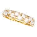 Estate Jewelry:Bracelets, Freshwater Cultured Pearl, Diamond, Gold Bracelet. . ...