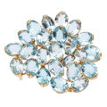 Estate Jewelry:Brooches - Pins, Blue Topaz, Pendant-Brooch. . ...