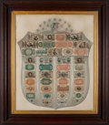 Fractional Currency:Shield, Fractional Currency Shield, With Gray Background.. ...