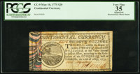 Continental Currency May 10, 1775 $20 PCGS Apparent Very Fine 35