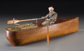 Miscellaneous, A Rare Spanish Mechanical Rowboat Toy in Original Box, circa 1930.7 h x 21-7/8 w x 22 d inches (17.8 x 55.6 x 55.9 cm) (oar...(Total: 2 Items)