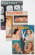 Magazines:Miscellaneous, Playboy 1956 Group of 4 (HMH Publishing, 1956) Condition: VF....(Total: 4 Items)