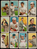 Baseball Cards:Lots, 1909-11 T206 Sweet Caporal 350-460 Series (12 Different) - AllFactory 42 Overprints....