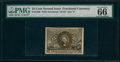 Fractional Currency:Second Issue, Fr. 1286 25¢ Second Issue PMG Gem Uncirculated 66 EPQ.. ...