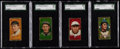 Baseball Cards:Lots, 1911 T205 American Beauty SGC Graded Group (4). ...