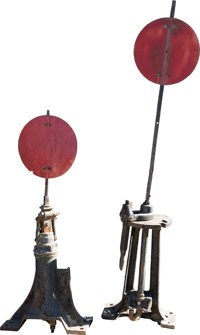 Antique Train Switches Group of 2 (1891).... (Total: 2 Items)