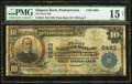 National Bank Notes:Pennsylvania, Slippery Rock, PA - $10 1902 Plain Back Fr. 624 The First NB Ch. #6483. ...