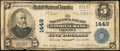 National Bank Notes:Maryland, Frederick, MD - $5 1902 Plain Back Fr. 598 The Frederick County NBCh. # 1449. ...
