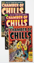 Golden Age (1938-1955):Horror, Chamber of Chills #7, 14, and 21 Group (Harvey, 1952-54) Condition:Average VG-.... (Total: 3 Comic Books)