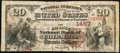 National Bank Notes:Missouri, Columbia, MO - $20 1882 Brown Back Fr. 496 The Exchange NB Ch. #1467. ...