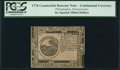 Colonial Notes:Continental Congress Issues, Continental Currency February 17, 1776 $6 PCGS Slabbed.. ...