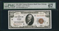 Small Size:Federal Reserve Bank Notes, Fr. 1860-G $10 1929 Federal Reserve Bank Note. PMG Superb Gem Unc 67 EPQ.. ...