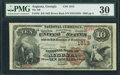 National Bank Notes:Georgia, Augusta, GA - $10 1882 Brown Back Fr. 482 The NB of Augusta Ch. # (S)1613. ...
