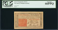 Colonial Notes:New Jersey, New Jersey March 25, 1776 3s PCGS Gem New 66PPQ.. ...
