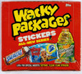 "Memorabilia:Trading Cards, Wacky Packages ANS (""All New Series"") Unopened Box with RetailerSales Sheet and Unopened Promo Pack (Topps, 2004). ... (Total: 3Items)"