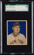 Baseball Cards:Singles (1940-1949), 1949 Bowman Johnny Mize (No Name) #85 SGC 84 NM 7....