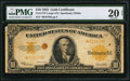 Large Size:Gold Certificates, Fr. 1173* $10 1922 Gold Certificate PMG Very Fine 20 Net.. ...