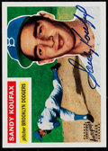 Baseball Cards:Singles (1970-Now), Signed 1995 Topps Archives Sandy Koufax #79....
