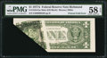 Error Notes:Foldovers, Fr. 1910-E $1 1977A Mule Federal Reserve Note. PMG Choice About Unc 58 EPQ.. ...