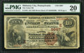 National Bank Notes:Pennsylvania, Mahanoy City, PA - $10 1882 Brown Back Fr. 483 The Union NB Ch. #(E)3997. ...