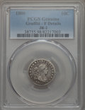 Early Dimes, 1800 10C JR-2, R.5, -- Graffiti -- PCGS Genuine. Fine Details. NGCCensus: (1/11). PCGS Population: (0/2). CDN: $975 Whsle....