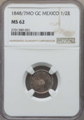 Mexico, Mexico: Republic 1/2 Real 1848/7 Mo-GC/RC MS62 NGC,...