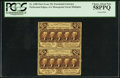 Fractional Currency:First Issue, Fr. 1280 25¢ First Issue Uncut Vertical Pair PCGS Choice About New 58PPQ.. ...