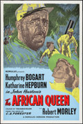 """Movie Posters:Adventure, The African Queen (Romulus, R-1950s). British One Sheet (27"""" X40""""). Adventure.. ..."""