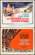 "Movie Posters:War, The Bridge on the River Kwai (Columbia, 1958/R-1963). Half Sheets(2) (22"" X 28"") Style B. War.. ... (Total: 2 Items)"