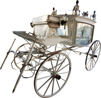 Merts and Riddle Horse-Drawn Hearse (c. late 1800s-early 1900s)