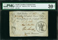 Colonial Notes:South Carolina, South Carolina March 6, 1776 £50 PMG Very Fine 30 Net.. ...