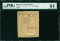 Colonial Notes:Delaware, Delaware January 1, 1776 20s PMG Choice Uncirculated 64.. ...