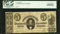 Confederate Notes:1861 Issues, T34 $5 1861 PF-3 Cr. 264.. ...
