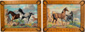 Original Comic Art:Paintings, Horses Paintings Group of 2 (c. 1960s-70s).... (Total: 2 Items)