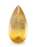 Gems:Faceted, Gemstone: Lemon Quartz - 56.6 Ct.. Brazil. 41.3 x 20.8 x 13.4mm. ...