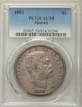Coins of Hawaii , 1883 $1 Hawaii Dollar AU50 PCGS. PCGS Population: (74/221). NGCCensus: (33/196). CDN: $800 Whsle. Bid for problem-free NGC...