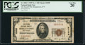 National Bank Notes:West Virginia, Morgantown, WV - $20 1929 Ty. 1 The Second NB Ch. # 2458. ...